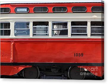 San Francisco Vintage Streetcar On Market Street - 5d18002 Canvas Print by Wingsdomain Art and Photography