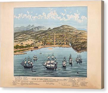 San Fransisco 1846 Canvas Print by Donna Leach