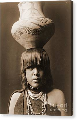 Bare Shoulder Canvas Print - San Ildefonso Girl by Padre Art