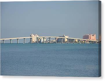Sand Key Bridge Clearwater Beach Canvas Print by Bill Cannon