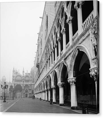 San Marco Square In Venice Canvas Print by Emanuel Tanjala