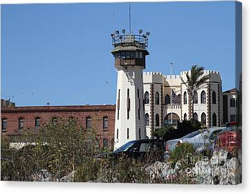 San Quentin State Prison In California - 7d18542 Canvas Print by Wingsdomain Art and Photography