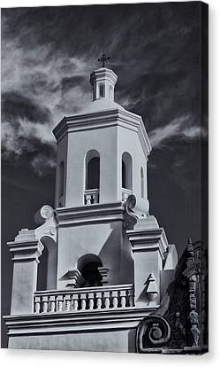 Canvas Print featuring the photograph San Xavier Tower by Tom Singleton