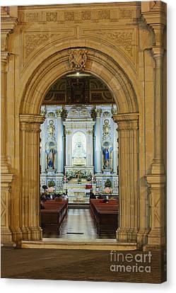 Sanctuary Of La Basílica De La Virgen De La Soledad Canvas Print by Jeremy Woodhouse