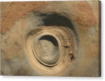 Sand And Rock Swirl Canvas Print