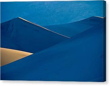 Sand Dunes Sunrise Canvas Print by Steve Gadomski