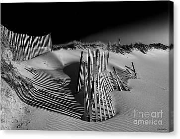 Sand Fence Canvas Print by Jim Dohms