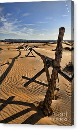Sand Canvas Print by Heather Applegate