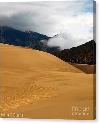 Sand In The Mountains Canvas Print