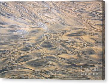 Canvas Print featuring the photograph Sand Patterns by Nareeta Martin