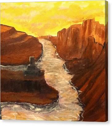 Sand Water Canvas Print by Richard  Hubal