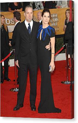 Sandra Bullock, Jesse James At Arrivals Canvas Print