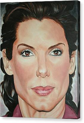 Portraits By Timothe Canvas Print - Sandra Bullock by Timothe Winstead