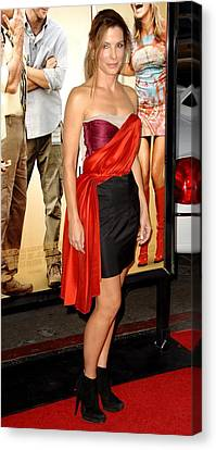 Sandra Bullock Wearing A Lanvin Dress Canvas Print