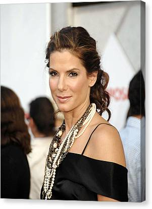 Sandra Bullock Wearing Lanvin Necklaces Canvas Print by Everett