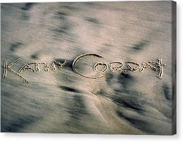 Sandscript Canvas Print by Kathy Corday