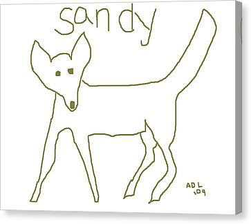 Sandy Canvas Print by Anita Dale Livaditis