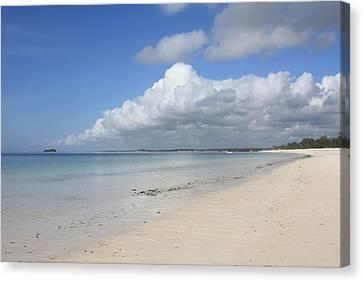 Sandy Beach, Watamu Canvas Print by Vladimir Nardin