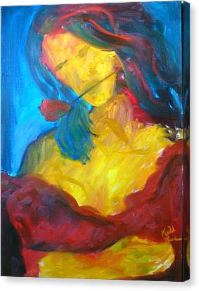 Canvas Print featuring the painting Sangria Dreams by Keith Thue