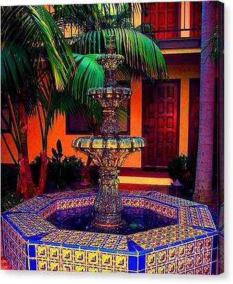 Santa Barbara Fountain Canvas Print