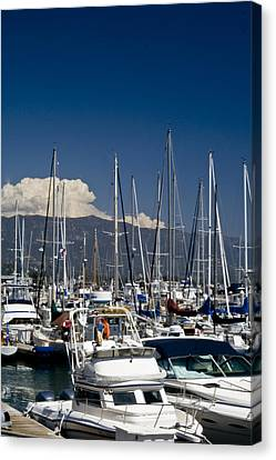 Santa Barbara Harbor Canvas Print by Gary Brandes