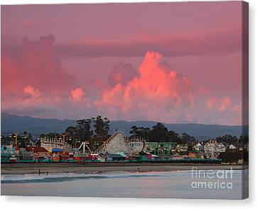 Santa Cruz Beach Boardwalk Canvas Print by Garnett  Jaeger