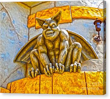 Santa Cruz Boardwalk - Demon - 01 Canvas Print by Gregory Dyer