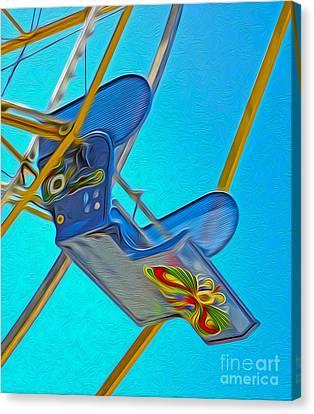 Santa Cruz Boardwalk - Ferris Wheel - 03 Canvas Print by Gregory Dyer