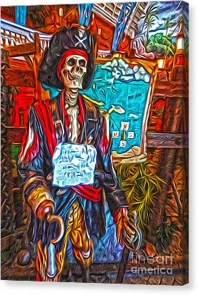 Santa Cruz Boardwalk - Pirate Of The Arcade Canvas Print by Gregory Dyer