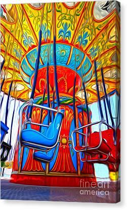 Santa Cruz Boardwalk - Tilt-a-whirl - 02 Canvas Print by Gregory Dyer