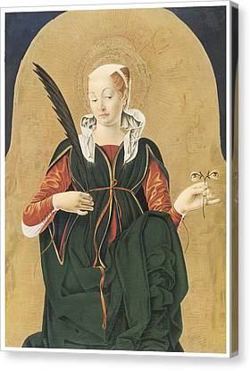 Santa Lucia Canvas Print by Francesco Del Cossa