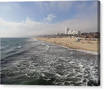 Santa Monica Beach Canvas Print by Robert Meyers-Lussier