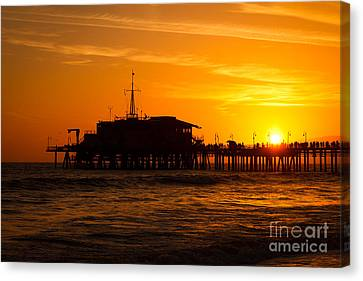 Santa Monica Pier Sunset Canvas Print