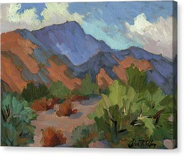 Santa Rosa Mountains Canvas Print by Diane McClary