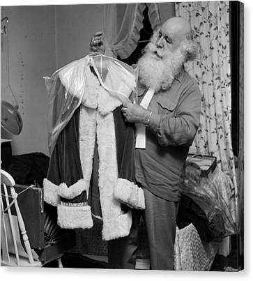 Dressing Room Canvas Print - Santa's Suit by Efield