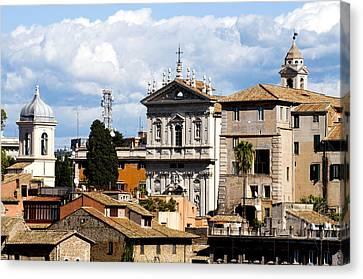 Santi Domenico E Sisto Canvas Print by Fabrizio Troiani