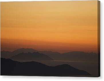 Santo Stefano Coastline At Sunset Canvas Print by Axiom Photographic