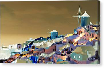 Santorini Canvas Print by Ilias Athanasopoulos