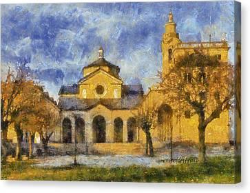 Santuario Della Madonna Della Guardia Canvas Print