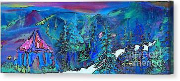 Sapphire Evening Canvas Print by Deborah Montana