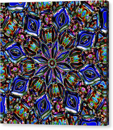Canvas Print featuring the digital art Sapphire Surprise by Alec Drake