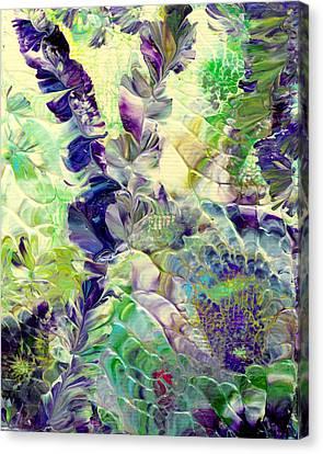 Sapphire Violet Canvas Print by Nan Bilden