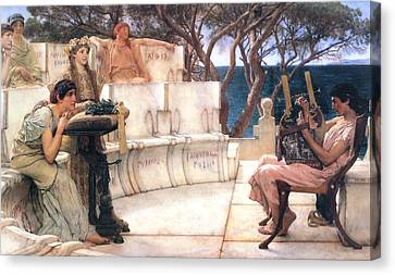 Ancient Canvas Print - Sappho And Alcaeus by Sumit Mehndiratta