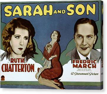 Sarah And Son, Ruth Chatterton, Fredric Canvas Print by Everett