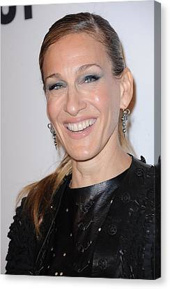 Sarah Jessica Parker At A Public Canvas Print by Everett