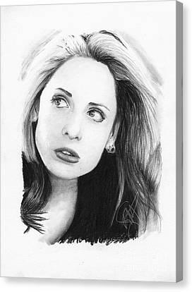 Sarah Michelle Gellar Canvas Print by Rosalinda Markle