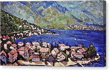 Sardinia On The Blue Mediterranean Sea Canvas Print by Rita Brown