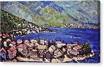 Sardinia On The Blue Mediterranean Sea Canvas Print by Rita Brown