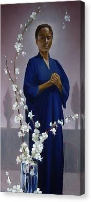 Sariya In Her Gated Garden Canvas Print