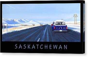 Saskatchewan Beauty Poster Canvas Print